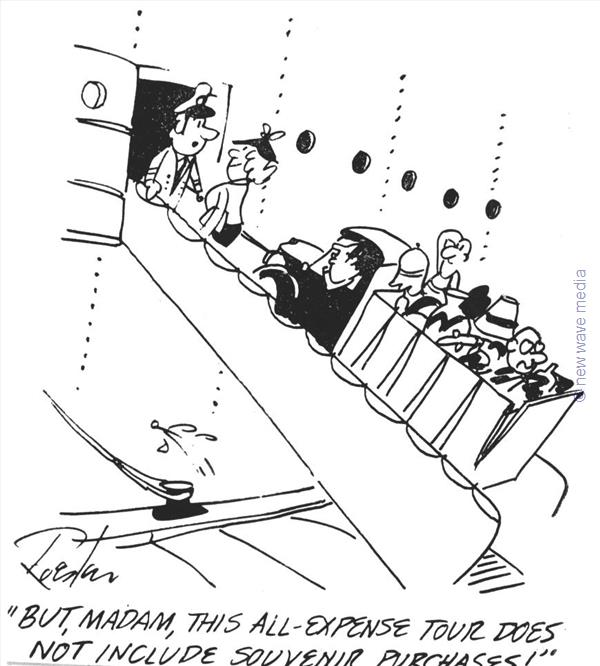 Boarding Cruise Vehicle Cartoons