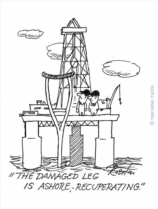 damaged rig rig workers